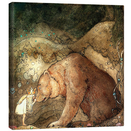 Tela  she kissed the bear on the nose - John Bauer