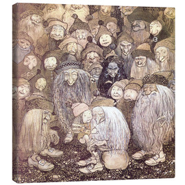 Tela  The trolls and the gnome boy - John Bauer