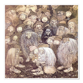 Poster Premium  The trolls and the gnome boy - John Bauer