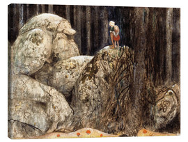 Tela  The Child and the Stone Troll - John Bauer