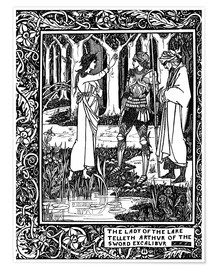 Poster Premium  The Lady of the Lake and Arthur - Aubrey Vincent Beardsley