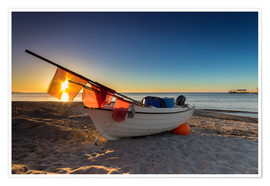 Poster Premium Fishing boat on the Baltic Sea