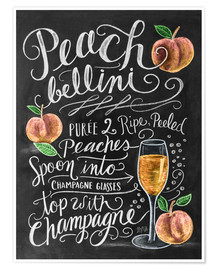 Poster Peachbellini recipe
