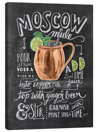 Stampa su tela  Ricetta Moscow mule (in inglese) - Lily & Val