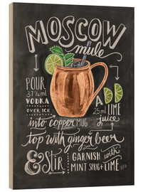 Stampa su legno  Ricetta Moscow mule (in inglese) - Lily & Val