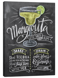 Stampa su tela  Ricetta Margarita (in inglese) - Lily & Val