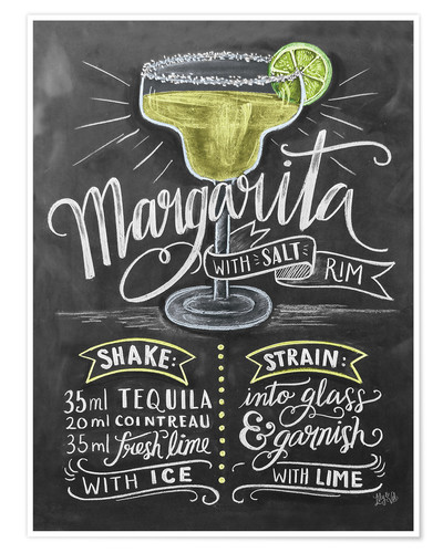 Poster Margarita Recipe