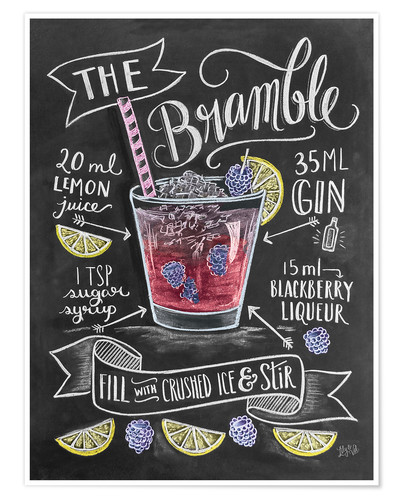 Poster Bramble Cocktail