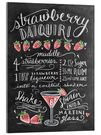 Vetro acrilico  Strawberry Daiquiri Recipe - Lily & Val