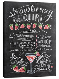 Stampa su tela  Ricetta Strawberry Daiquiri (in inglese) - Lily & Val