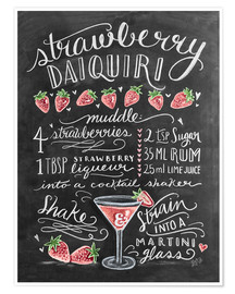 Poster Premium  Ricetta Strawberry Daiquiri (in inglese) - Lily & Val