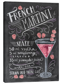 Stampa su tela  Ricetta French Martini (in inglese) - Lily & Val