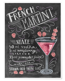 Poster Premium Ricetta French Martini (in inglese)