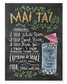 Poster Premium  Ricetta Mai Tai (in inglese) - Lily & Val