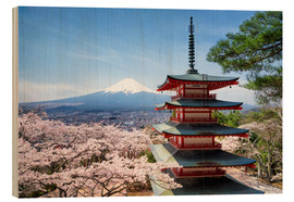 Stampa su legno  Chureito Pagoda in Yamanashi - Jan Christopher Becke