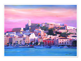 Poster Premium  Ibiza Old Town and Harbour - Pearl Of the Mediterranean Sea - M. Bleichner