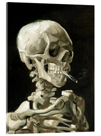 Vetro acrilico  Skeleton with a burning cigarette - Vincent van Gogh