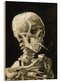 Legno  Skeleton with a burning cigarette - Vincent van Gogh