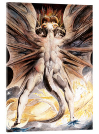 Vetro acrilico  Clothed The Great Red Dragon and the Woman with the Sun - William Blake