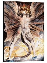 Alluminio Dibond  Clothed The Great Red Dragon and the Woman with the Sun - William Blake