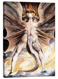 Tela  Clothed The Great Red Dragon and the Woman with the Sun - William Blake