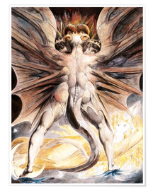 Poster Premium  Grande Drago Rosso - William Blake