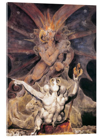 Vetro acrilico  the number of the beast is 666 - William Blake