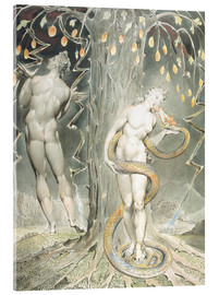 Stampa su vetro acrilico  Adam and Eve - William Blake