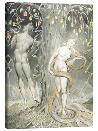 Stampa su tela  Adam and Eve - William Blake