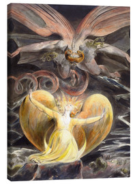 Tela  the great red dragon and the woman clothed with sun - William Blake