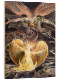 Legno  the great red dragon and the woman clothed with sun - William Blake