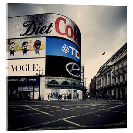 Stampa su vetro acrilico  Picadilly Circus - London - Richard Grando