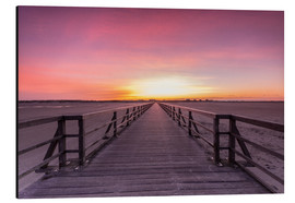 Stampa su alluminio  Long jetty at the beach of St. Peter Ording - Dennis Stracke