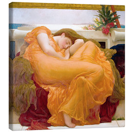 Stampa su tela  Flaming June - Frederic Leighton