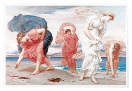 Poster Premium  Greek girls picking up pebbles - Frederic Leighton