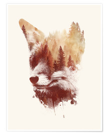 Poster  Blind fox - Robert Farkas
