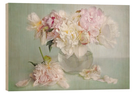 Stampa su legno  still life with peonies - Lizzy Pe