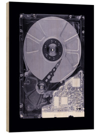 Legno  Computer hard disk, simulated X-ray - Mark Sykes