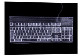 Schiuma dura  Computer keyboard, simulated X-ray - Mark Sykes