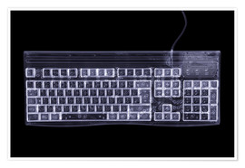 Poster Premium  Computer keyboard, simulated X-ray - Mark Sykes
