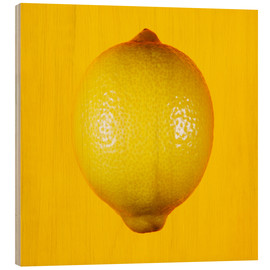 Legno  Lemon against yellow background - Mark Sykes