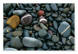 Poster Premium  Pebbles on a beach - Keith Wheeler