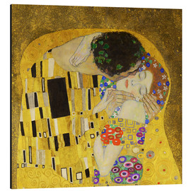 Stampa su alluminio  The Kiss (detail cross) - Gustav Klimt
