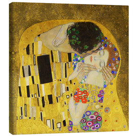 Stampa su tela  The Kiss (detail cross) - Gustav Klimt