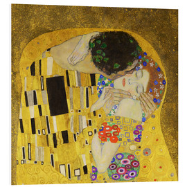 Stampa su schiuma dura  The Kiss (detail cross) - Gustav Klimt