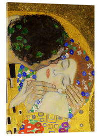 Vetro acrilico  The Kiss (detail) - Gustav Klimt