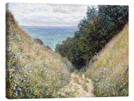 Stampa su tela  Road at La Cavée, Pourville - Claude Monet