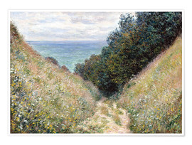 Poster  Road at La Cavée, Pourville - Claude Monet
