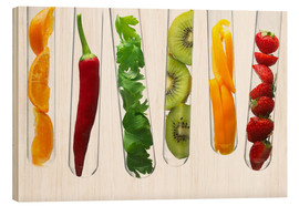 Legno  Fruit and vegetables in test tubes