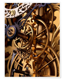 Poster Internal gears within a clock